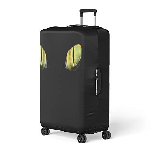 Pinbeam Luggage Cover Yellow Panther Feline Eye in the Dark Tiger Travel Suitcase Cover Protector Baggage Case Fits 26-28 inches ()