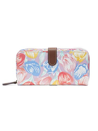 Reya Rosette Tulip Paradise Wallet With Leather Flap