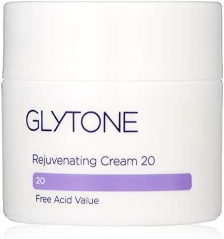 Glytone Rejuvenating Cream with 20 Free Acid Value Glycolic Acid, Moisturizer, Rich Creamy Emollient, Exfoliate, Normal to Dry Skin, 1.7 oz
