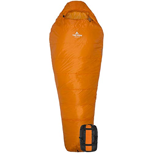 TETON Sports Altos-S 0 Mummy Sleeping Bag; Lightweight for Camping and Hiking