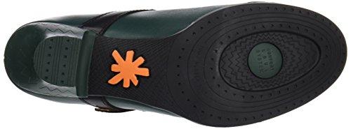 Verde Petroleo Cerrada Punta Mujer Star black Zapatos para Art Tacón de Harlem con zAaYzn