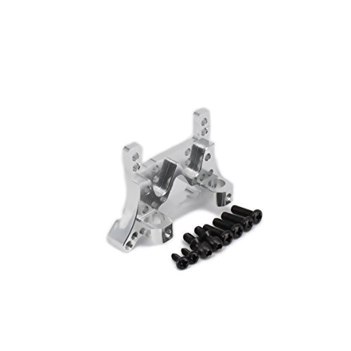 RCAWD Front Shock Tower Absorber Plate A580021 Machined Alloy Aluminum for Rc Hobby Model Car 1/18 Wltoys A959 A969 A979 K929 Upgraded Hop-Up Parts 1Pcs(Silver) (Hobbies Tower)