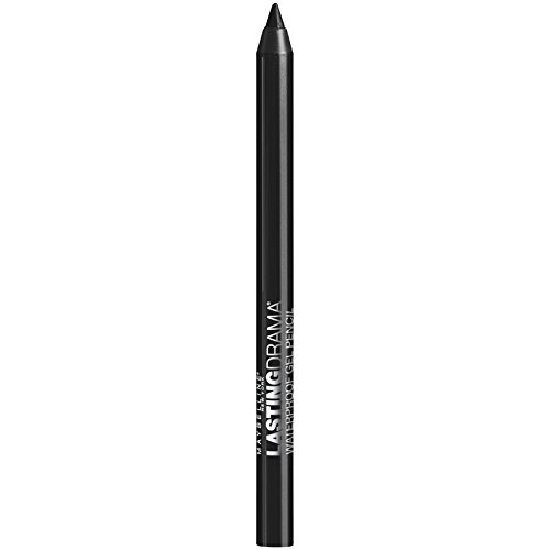 Maybelline New York Eyestudio Lasting Drama Waterproof Gel Eye Pencil, Sleek Onyx, 0.038 Ounce
