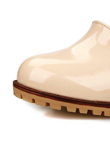 Mujeres Tac¨®n 5 Zapatos Partido Las Zq us9 Del Vestido noche La 5 Cn43 White Eu41 Uk Eu42 Tal¨®n Gruesos Negro White us10 10 Uk8 Cuero Patente Boda De Cn42 8 5 Talones amp; 5 Uk7 0qqawfOd