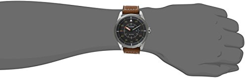 Citizen Men's Eco-Drive Brown Leather Strap Watch with Date, AW1361-10H