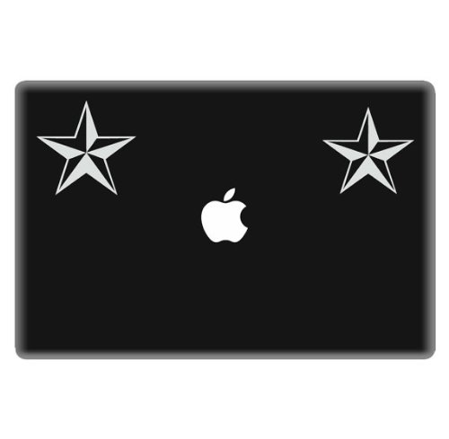 White Nautical Star (Nautical Star Decal 2 pack for Laptop, Car - 2