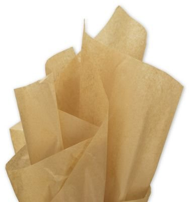 Solid Tissue Paper - Solid Tissue Paper, Recycled Kraft, 15 x 20'' (960 Sheets) - BOWS-11-1520-8M by Miller Supply Inc