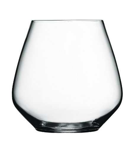 Luigi Bormioli Atelier Stemless Pinot Noir Wine Glass, 20-Ounce, Set of 6