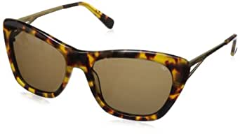 Rebecca Minkoff womens Waverly Waverly Cateye Sunglasses,Blonde Tortoise Gold,55 mm
