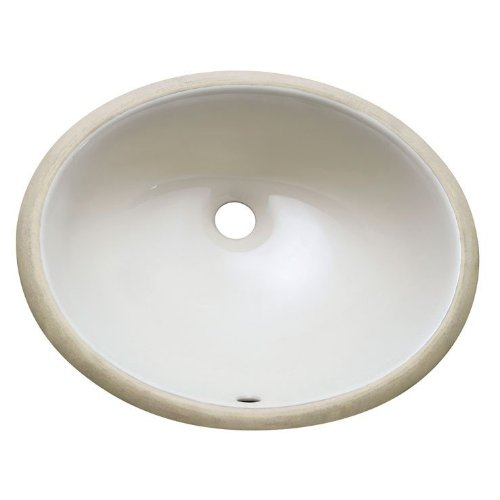 Undermount 18 in. Oval Vitreous China ceramic sink in Linen