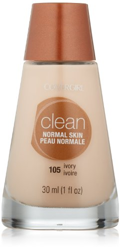 CoverGirl Clean Liquid Makeup, Ivory (N) 105, 1.0-Ounce Bottles (Pack of 2)