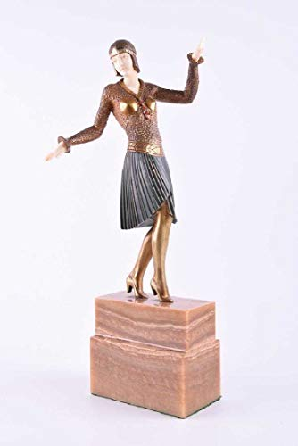 Dimitri Chiparus Egyptian'' Sculpture Art Deco, Bronze and Marble/ 100% Authentic