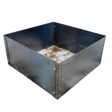Square Fire Pit Campfire Ring Insert Liner 36 x 36 x 14 (Square Fire Ring)