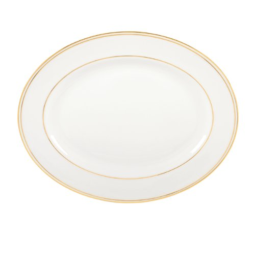 Lenox 100110442 Federal Gold Oval Platter, White Bone China Fine China Platter