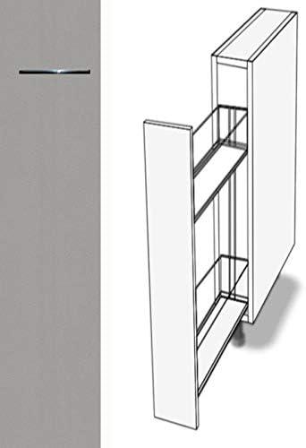 Premium-Ambiente ASEPA9 Unterschrank Apothekerschrank Vollauszug  Softclosing 9cm breit FE (9 Aluminium)