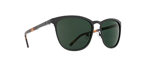 Spy Optic Cliffside Sunglasses Matte Black Honey Tort with Grey Green Lens Sticker