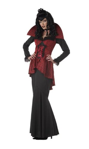 California Costumes Women's Countess Blood Thirst Costume, Black/Red,Large]()