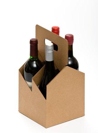 4pk Wine Carrier - Plain