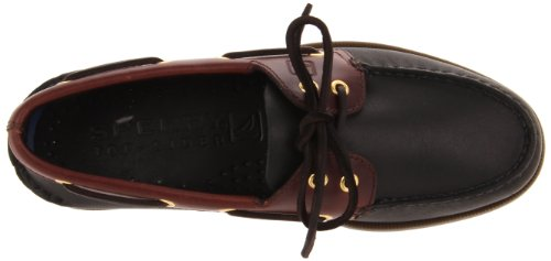 Sperry Authentic Original 2-Eye, Scarpe da Barca Uomo Nero (Schwarz/Amaretto)