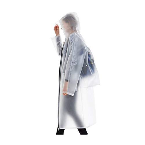 Poncho Per Dimensioni Di Lungo L White Dqmsb Blu Jade Grandi Cerniera Adulto colore Impermeabile Esterna p4wqBdFx5