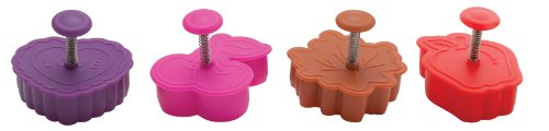 Mrs. Anderson's Baking Pie Crust Cookie Cutters, BPA Free, Set of 4 (Hearts Outs Cut Mini)