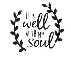- Chase Grace Studio It's All Well With My Soul Christian Bible Vinyl Decal Sticker|BLACK|Cars Trucks Vans SUV Laptops Wall Art|5.5