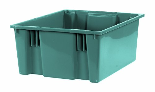 "UPC 651588039175, Aviditi BINS121 Stack and Nest Containers, 20 7/8"" x 18 1/4"" x 9 7/8"", Gray (Pack of 3)"