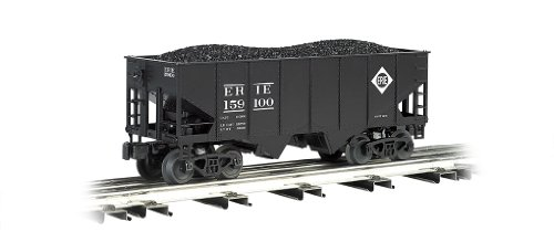 - Williams by Bachmann 55-Ton 2-Bay USRA Outside Braced Hopper with Removable Coal Load Erie - O Scale