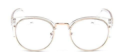 Embryform Vintage Version lunettes monture ronde cadre m¡§?tallique demi-cor¡§?enne de la tendance de simples sauvages cadre de miroir simple cIOEC