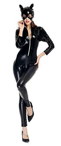 [LifeWheel Women Christmas Halloween Accessory Jumpsuits Catwoman Cosplay Tight Costumes Adult, Medium by] (Tights Costumes Accessory)