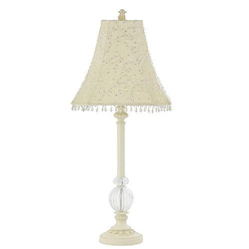 Jubilee Collection 870003-4059 Ivory Glass Ball Lamp with Ivory Starburst Shade, Large by Jubilee Collection