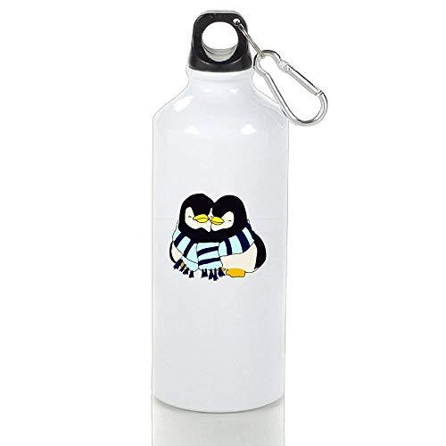 BELLM Mountain Bike Aluminum Water Bottle Penguins Hugging Travel Water Bottle 21 Oz(2.97.0 in)