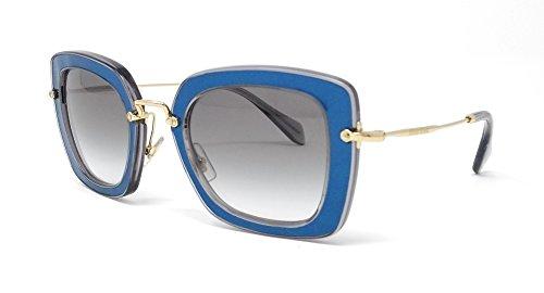 Miu Miu MU07OS ROY-1E0 Blue MU07OS Square Sunglasses Lens Category 2 Size 52mm