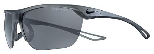 (Nike Men's Trainer S Square Sunglasses, Matte Anthracite/Black, 63 mm)
