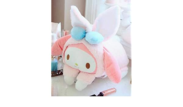 cute plush toy pink heart melody tissue box cover hanging paper towel case 1pc