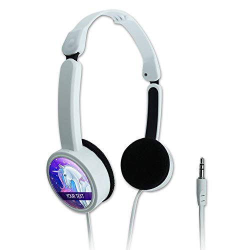 Majestic Line - GRAPHICS & MORE Personalized Custom Majestic Unicorn 1 Line Novelty Travel Portable On-Ear Foldable Headphones