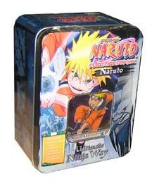 Naruto 2007 CCG Ultimate Ninja Way Collectors Tin - Blue (Includes 5 Booster Packs, 1 Exclusive Platinum Card & 1 Sneak Peak Pack) from Naruto