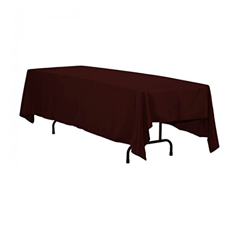 LinenTablecloth 70 x 120-Inch Rectangular Polyester Tablecloth Chocolate