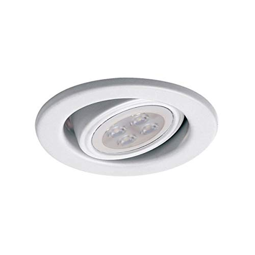 (WAC Lighting HR-837LED-WT 2.5in Round Adjustable Gimbal Trim LED Recessed Light, 2.5