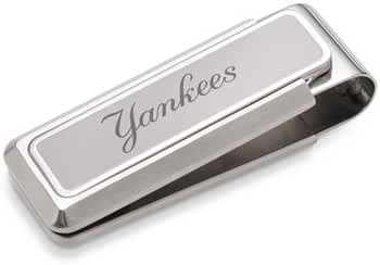 M-Clip Etched New York Yankees Stainless Steel Money Clip