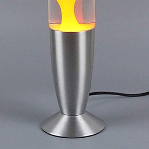 estilo volc/án luz nocturna y medusas N//A accesorios para el hogar incandescente de lava L/ámpara de lava con base de metal