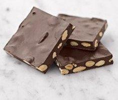 Sugar Free Dark Chocolate Almond Bark 5 Pound Bulk Bag