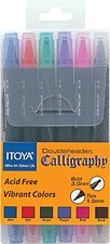 Itoya CL-100 Double Header Calligraphy Marker Set(6 colors)