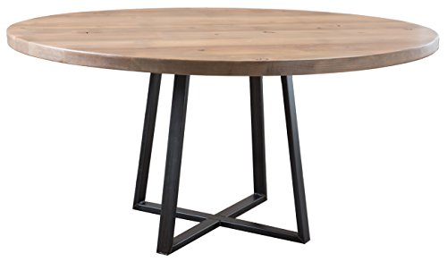 Round Industrial Steel Pedestal Table (60