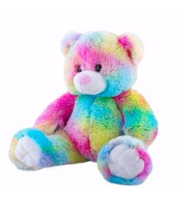 Cuddly Soft 16 inch Stuffed Rainbow Bear - We stuff 'em.you love 'em!
