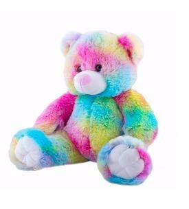 Cuddly Soft 16 inch Stuffed Rainbow Bear - We Stuff