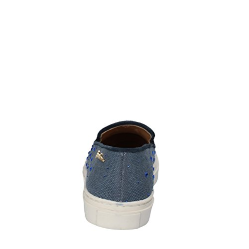 On Strass Slip Blu EU Braccialini 40 Mocassini Donna Tessuto 4Ewnv1