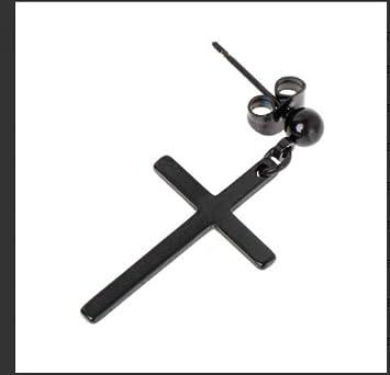 Pendientes de aleación 1 pieza Pendientes largos Cruz colgante Hombres Joyería femenina Unisex Cruz Regalo de moda