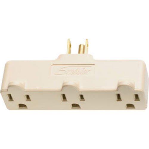 Legrand-Pass & Seymour 697RI Plug in One to Three Outlet Adaptor, Single Pole Three Wire, (1 Pole Plug)