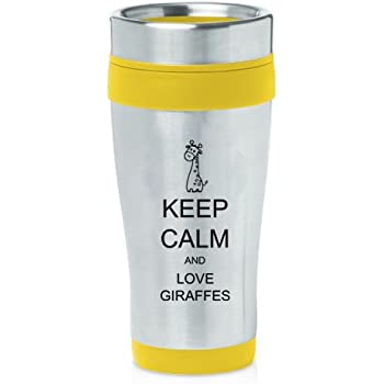 Amazon Com Yellow 16oz Insulated Stainless Steel Travel
